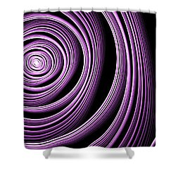 Fractal Purple Swirl Shower Curtain