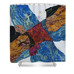 Fracture Section X Shower Curtain
