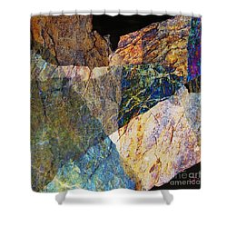Fracture Xxvi Shower Curtain by Paul Davenport