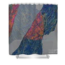 Fracture Xxx Shower Curtain by Paul Davenport