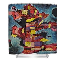 Fractured Fire Shower Curtain by Mark Jordan