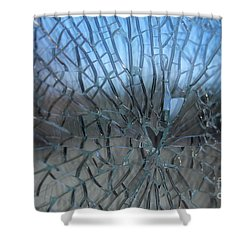 Fractured Heart Shower Curtain
