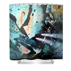 Fractured Planet Shower Curtain