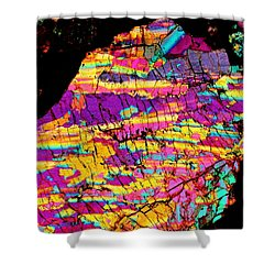 Fractured Sunrise On Planet Magoo Shower Curtain