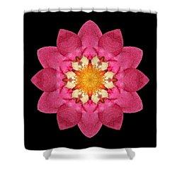 Shower Curtain featuring the photograph Fragaria Flower Mandala by David J Bookbinder