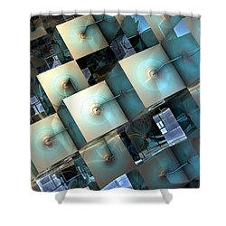 Fragmentary Shower Curtain by Kevin Trow