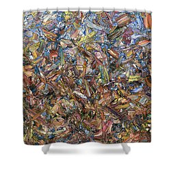 Shower Curtain featuring the painting Fragmented Fall by James W Johnson