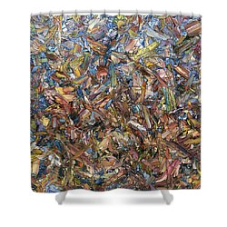 Shower Curtain featuring the painting Fragmented Fall - Square by James W Johnson