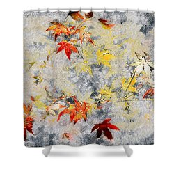Fragments Of Fall Shower Curtain by RC deWinter