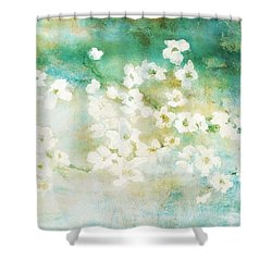Fragrant Waters - Abstract Art Shower Curtain by Jaison Cianelli