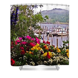 Fragrant Marina Shower Curtain by Lydia Holly