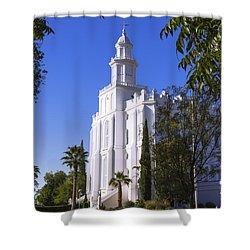 Framed House Shower Curtain