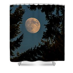 Framed Moon Shower Curtain