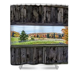 Framed-autumn In Vermont Shower Curtain by John Vose