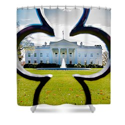 Framed Whitehouse Shower Curtain by Greg Fortier