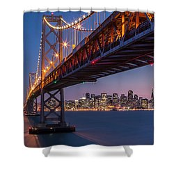 Shower Curtain featuring the photograph Framing San Francisco by Mihai Andritoiu