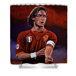 Francesco Totti Shower Curtain by Paul Meijering