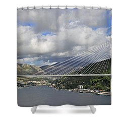 Franjo Tudman Bridge Shower Curtain