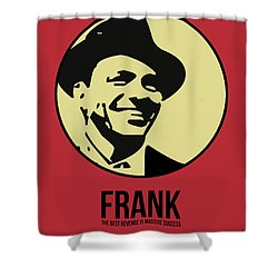 Frank Poster 2 Shower Curtain by Naxart Studio