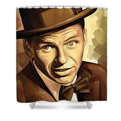 Frank Sinatra Artwork 2 Shower Curtain by Sheraz A