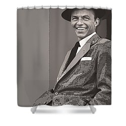 Frank Sinatra Shower Curtain by Daniel Hagerman