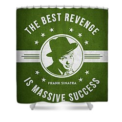 Frank Sinatra - Green Shower Curtain by Aged Pixel