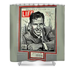 Frank Sinatra Life Cover Shower Curtain by Jay Milo