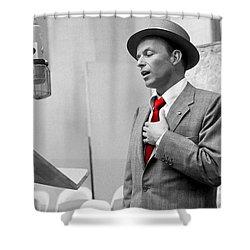 Frank Sinatra Painting Shower Curtain
