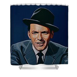 Frank Sinatra Shower Curtain by Paul Meijering