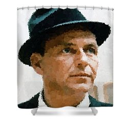 Frank Sinatra Portrait Shower Curtain