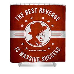 Frank Sinatra - Red Shower Curtain by Aged Pixel