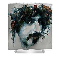 Frank Zappa Shower Curtain by Paul Lovering