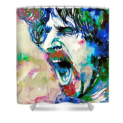 Frank Zappa  Portrait.4 Shower Curtain by Fabrizio Cassetta