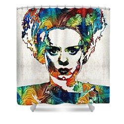 cafe2af16cc3 Frankenstein Bride Art - Colorful Monster Bride - By Sharon Cummings Shower  Curtain