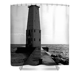 Frankfort Michigan Lighthouse Ll Shower Curtain