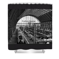 Frankfurt Bahnhof - Train Station Shower Curtain