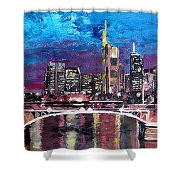 Frankfurt Main Germany - Mainhattan Skyline Shower Curtain by M Bleichner