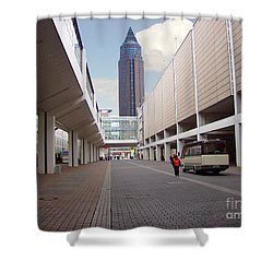 Frankfurter Messe Turm Shower Curtain