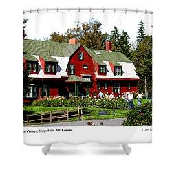 Franklin D. Roosevelt Cottage Campobello Nb Shower Curtain