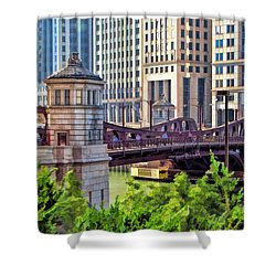 Franklin Street Bridge Shower Curtain