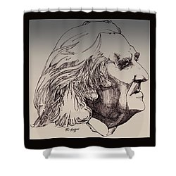 Franz Liszt Shower Curtain by Derrick Higgins
