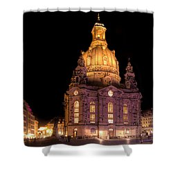 Frauenkirche Shower Curtain by Steffen Gierok
