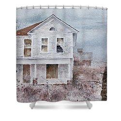 Frayed Shower Curtain
