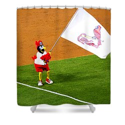 Fredbird Celebrates A Win Shower Curtain