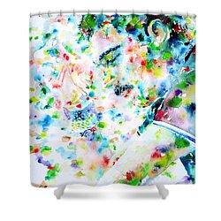 Freddie Mercury Portrait.7 Shower Curtain