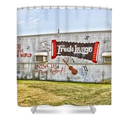 Fred's Lounge Shower Curtain