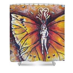 Free As The Flame Shower Curtain by Shana Rowe Jackson