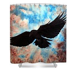 Free Bird Shower Curtain by Oddball Art Co by Lizzy Love