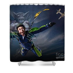 Free Fall Into Darkness Shower Curtain by Joseph Juvenal