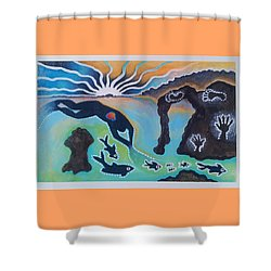 Free Man Off Of Pirates Cove Shower Curtain